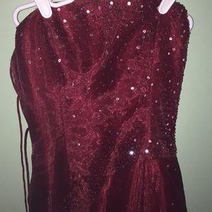Morgan Co Dresses Maroon Colored Prom Dress Poshmark